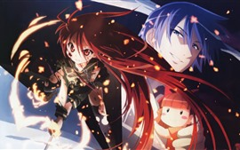 Shakugan no Shana, anime girl and boy