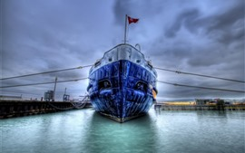 Preview wallpaper Ship, dock, HDR style