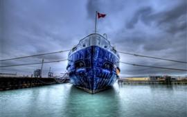 Корабль, док, HDR стиль