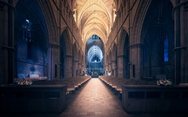 Preview wallpaper Southwark Cathedral, interior, chairs, London