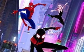 Preview wallpaper Spider-Man: Into the Spider-Verse, anime movie 2018