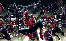 Preview wallpaper Spider-man, pose, art picture