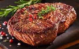 Preview wallpaper Steak, meat, barbecue