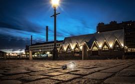 Швеция, Гётеборг, лампочка, ночь, освещение