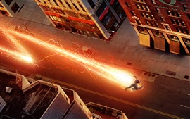 Preview wallpaper The Flash, city, speed, lightning, TV series