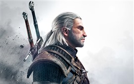 Preview wallpaper The Witcher 3: Wild Hunt, man, sword
