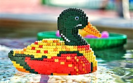 Preview wallpaper Toy bricks duck