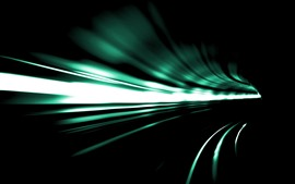 Preview wallpaper Tunnel, speed, light lines, darkness