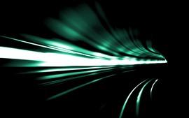 Tunnel, speed, light lines, darkness