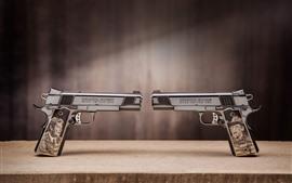 Preview wallpaper Two guns, pistol, weapon
