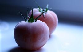 Dois tomates, geada, nebuloso