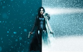 Preview wallpaper Underworld: Blood Wars, Kate Beckinsale, snow, guns