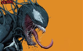 Preview wallpaper Venom, DC Comics, orange background