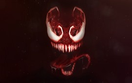 Preview wallpaper Venom, teeth, horror, art picture