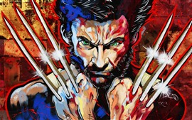 Preview wallpaper Wolverine, Logan, art picture
