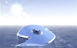 Aperçu fond d'écran 3D 9, eau, soleil