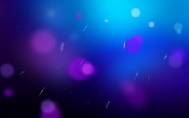 Abstract blue background, purple circles