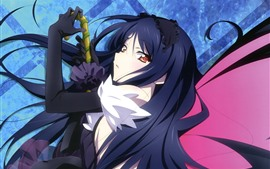 Preview wallpaper Accel World, blue hair anime girl