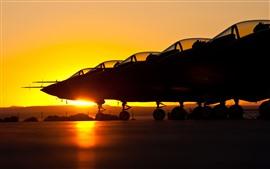 Preview wallpaper Aircraft, airport, sunset