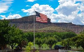 Preview wallpaper America Flag, farm