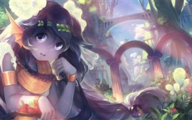 Anime girl, fantasy world