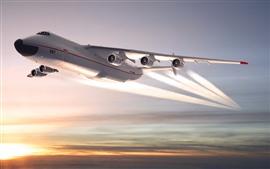 Avión Antonov An-225, cielo, atardecer.