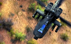 Preview wallpaper Apache AH-64 helicopter flight
