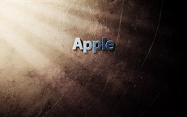 Preview wallpaper Apple logo, light rays, texture