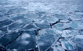 Preview wallpaper Arctic, ice slices, cracks, sea, cold