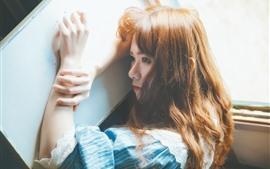 Preview wallpaper Asian girl, rest, glare