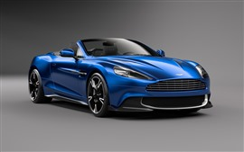 Preview wallpaper Aston Martin Vanquish S blue car