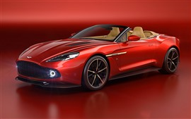 Preview wallpaper Aston Martin red sport car