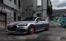 Preview wallpaper Audi RS5 silver car