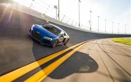 Preview wallpaper Audi blue car speed, race track