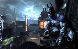Preview wallpaper Batman, city, night, PC game