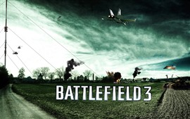 Preview wallpaper Battlefield 3, farmland, tank, fighter