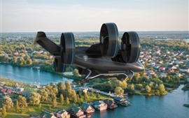 Preview wallpaper Bell Nexus flying car