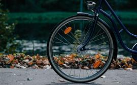 Bicicleta, rueda, suelo