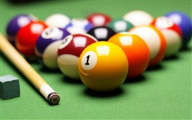 Preview wallpaper Billiards, balls, colors