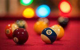 Billiards, light circles, glare