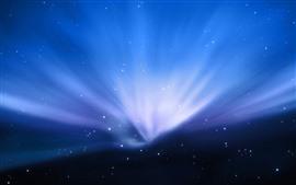 Голубые лучи света, звездное, космос