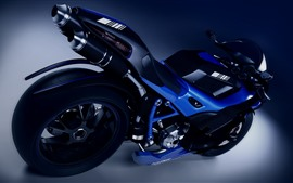Preview wallpaper Blue motorcycle, wheel