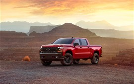 Preview wallpaper Chevrolet Silverado Z71 red pickup