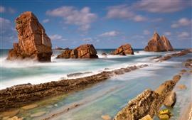 Costa, rocas, mar