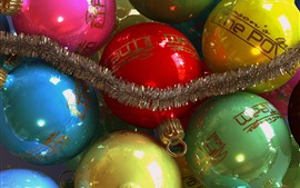 Preview wallpaper Colorful Christmas balls, decoration, shine