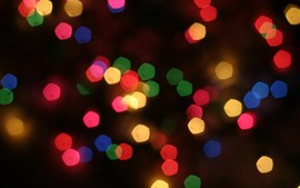 Círculos de luz coloridos, brilhantes