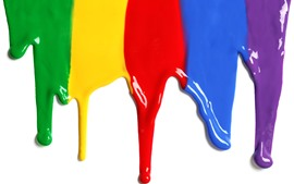 Preview wallpaper Colorful paint, rainbow color, white background