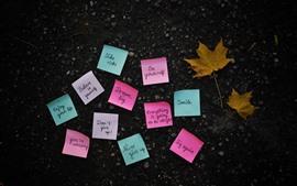 Pegatinas coloridas, etiquetas