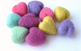 Preview wallpaper Colorful wool love hearts