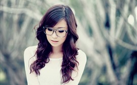 Preview wallpaper Curls girl, glasses